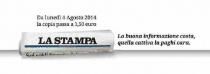 La Stampa aumenta il prezzo: da lunedì prossimo a 1,50 euro