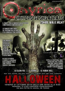 Party di Halloween nell'ex cimitero di San Pietro in Vincoli